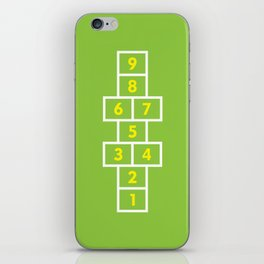 Hopscotch Green iPhone Skin