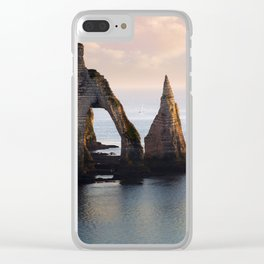 The Aval Door in Etretat  France Clear iPhone Case