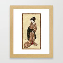 Geisha series #1 Framed Art Print