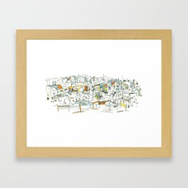 the allotments Framed Art Print