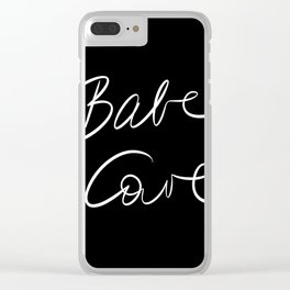 Babe Cave - Black and White Clear iPhone Case