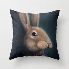 Mr. Rabbit Throw Pillow