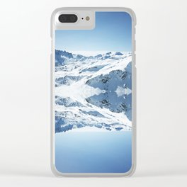 Mirrored mountain 3 Clear iPhone Case
