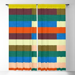 kilim Autumn Colors Blackout Curtain
