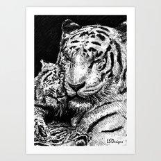 Mother & Cub Art Print