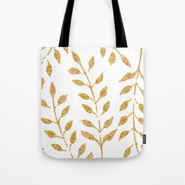 Gold Glitter Fronds Tote Bag
