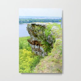 Lover's Leap in Hannibal, MO Metal Print