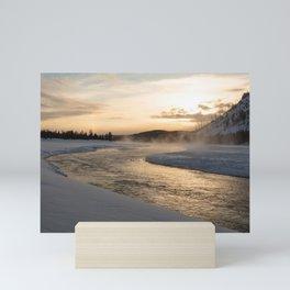 Yellowstone National Park - Sunrise along the Madison River Mini Art Print