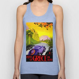 Visit Greece in Auto Travel Unisex Tank Top
