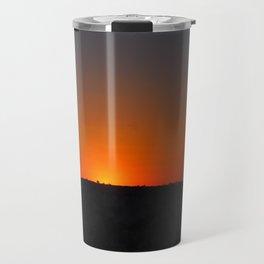 Red Sundown Travel Mug