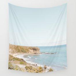 Travel photography Palos Verdes Ocean Cliffs Seascape Landscape VI Wall Tapestry