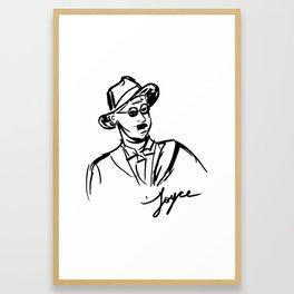 James Joyce Portrait Mug Framed Art Print