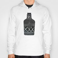 alcohol Hoodies featuring Alcohol Bottle xxx by matteolasi