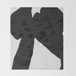 Black Coat Throw Blanket