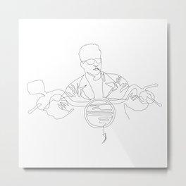Terminator Cycle (1-line drawing) Metal Print