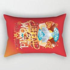 Defend the world Rectangular Pillow
