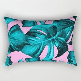 Monstera Leaves Summer Vibes Pattern #1 #tropical #decor #art #society6 Rectangular Pillow