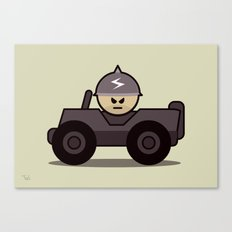 Grumpy Little Soldiers Jeep Military Art, Military Wall Art Canvas Print