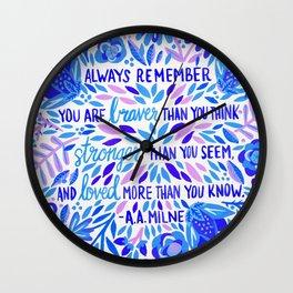 Always Remember – Indigo Palette Wall Clock