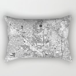 Phoenix White Map Rectangular Pillow