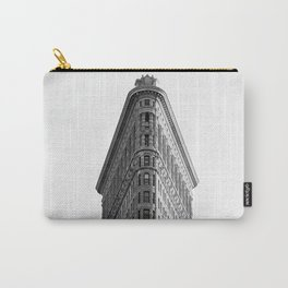 Flatiron Black and White NYC Carry-All Pouch