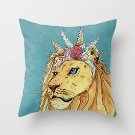 Poseidon, the Sealion Throw Pillow