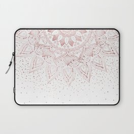 Elegant rose gold mandala confetti design Laptop Sleeve