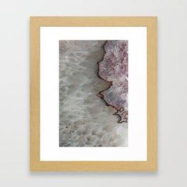 Agate Crystal Lavender Framed Art Print