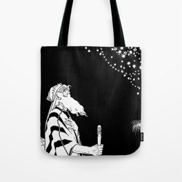 Abraham Contemplates the Stars Tote Bag