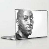 house md Laptop & iPad Skins featuring Dr. Foreman-House MD-Omar Epps-Portrait by Olechka