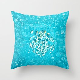 Teal Burst Throw Pillow