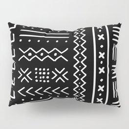 Black hand drawn mudcloth Pillow Sham