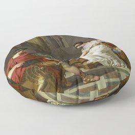Cleopatra and Octavian Floor Pillow