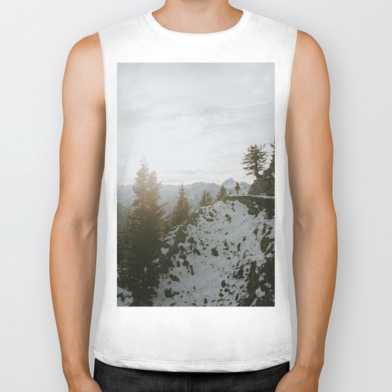Taking in the view - Landscape Photography Biker Tank