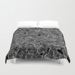 Inverted Enveloping Lines Duvet Cover