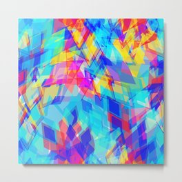 Abstract pattern with rhombus decorative geometric abstract Metal Print