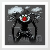 magritte Art Prints featuring Ryuk Magritte by le.duc