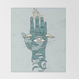 Sacred Hand Throw Blanket