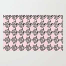 Soft pink ornament Rug