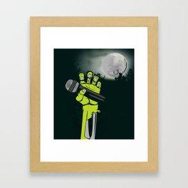 Mic of The Living Dead Framed Art Print