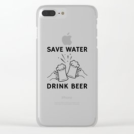 Drink Beer Together With Friends Clear iPhone Case