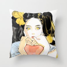 Yellow Ribbon Throw Pillow