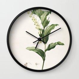 convallaria multiflora Redoute Roses 1 Wall Clock