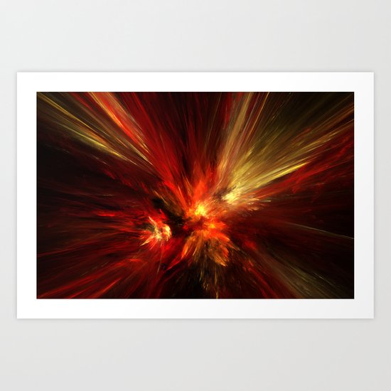 combustion Art Print