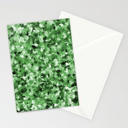 Green Camo Organic Pattern Abstract  Stationery Cards