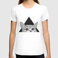 kitten T-shirts featuring You asleep yet? by Laura Graves