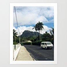 Island Road Art Print