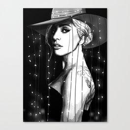 JOANNE B&w Canvas Print