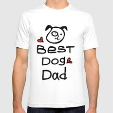 Best dog dad SMALL White Mens Fitted Tee