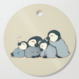 Pile of penguins Cutting Board